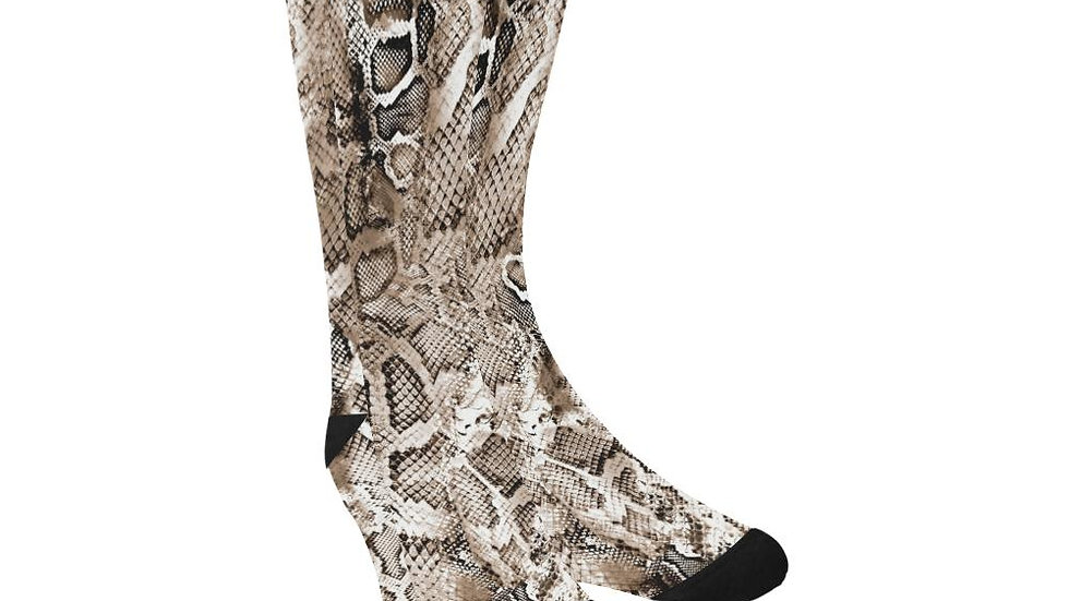 Snake Skin Printed Socks