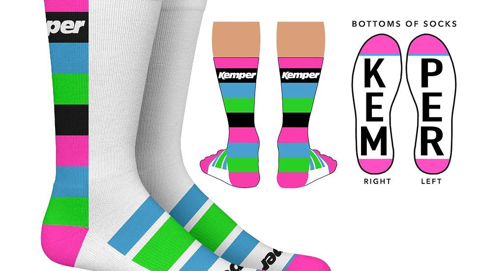 Kemper Snowboards Stripe Crew Sock