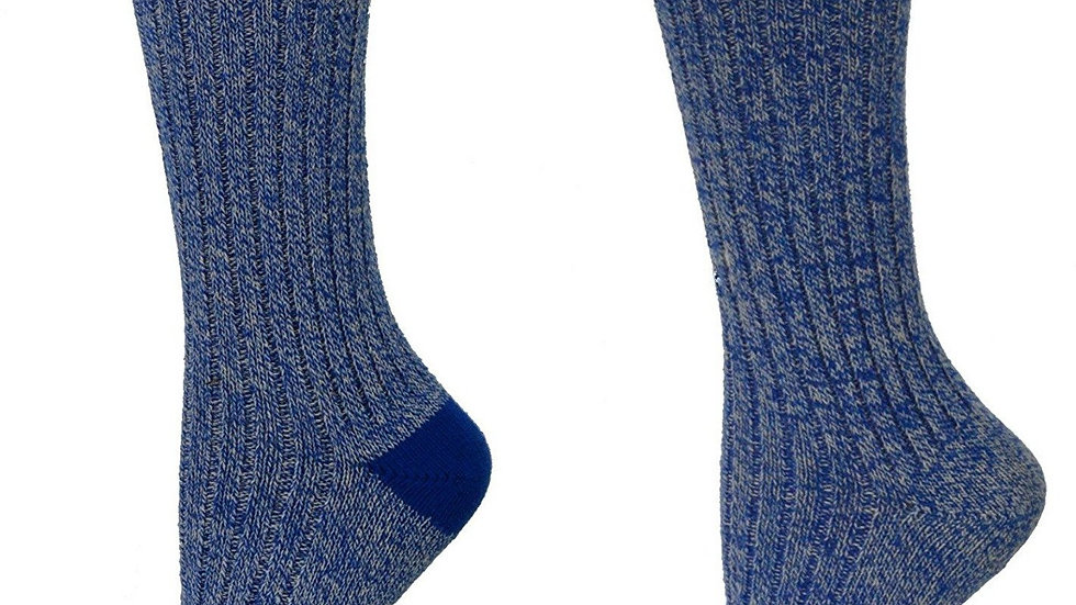 Woman's Outdoor Boot Hiking Marled Twisted Cotton 2 Pair Pack Socks