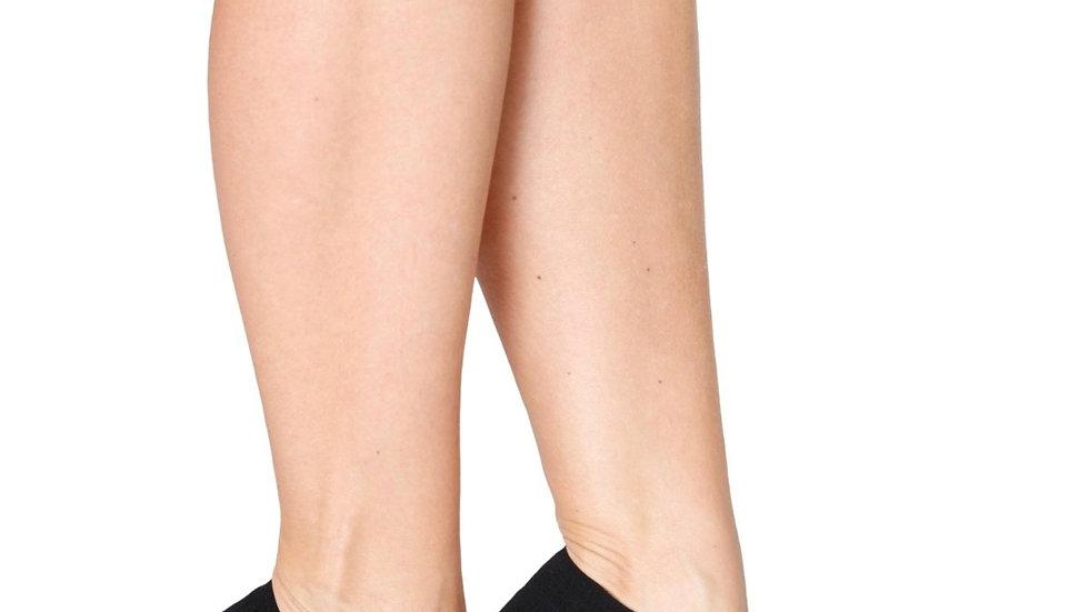 MONDI black low-cut viscose socks for women