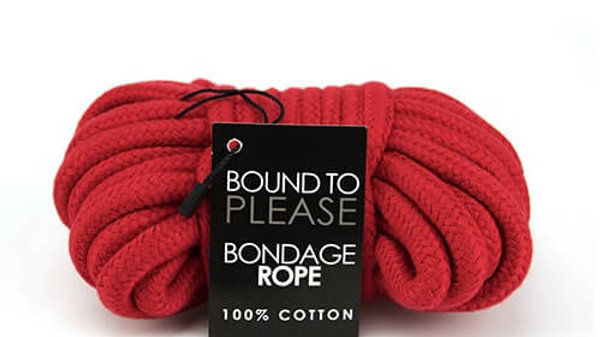 Bound to Please Bondage Rope Red