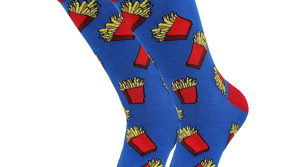 Sick Socks – French Fries – Favorite Foods Casual Dress Socks