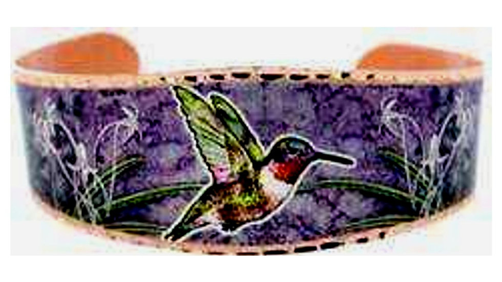 All Copper Bracelet Hand Made Colorful Hummingbird TOP SELLER