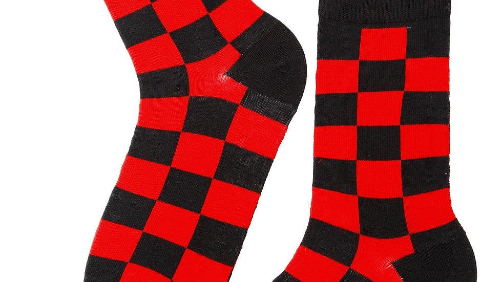 ROBERT red cotton socks for men