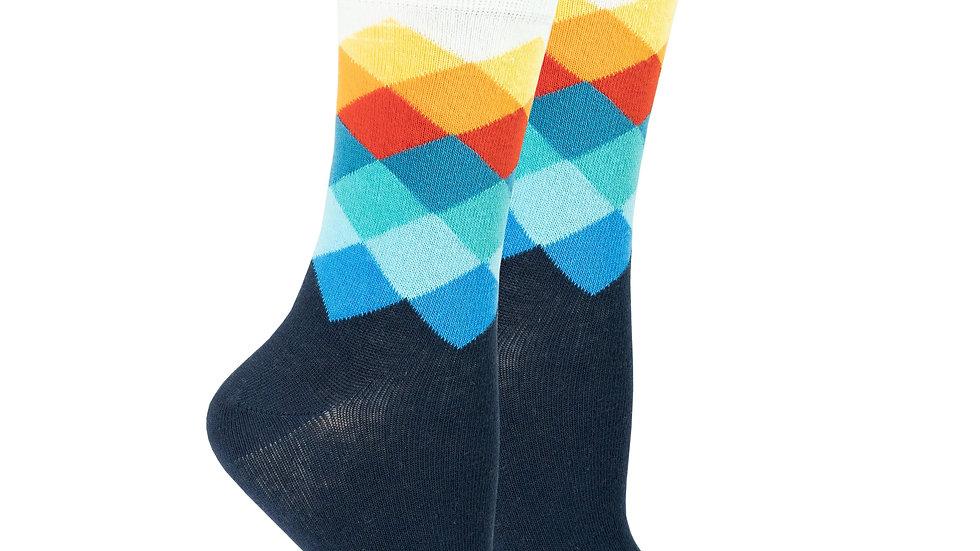 Women's Marine Diamond Socks