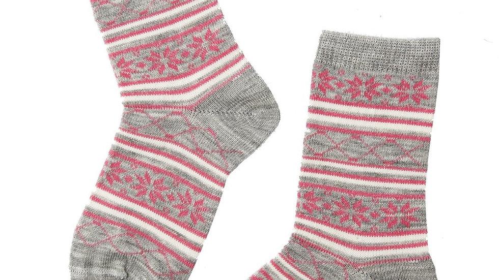 SNOW grey merino socks for children