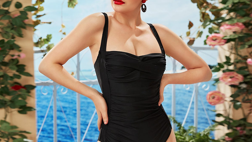 Ruched Detail One Piece Swimsuit