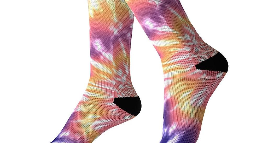 Pink Tie Dye  Socks