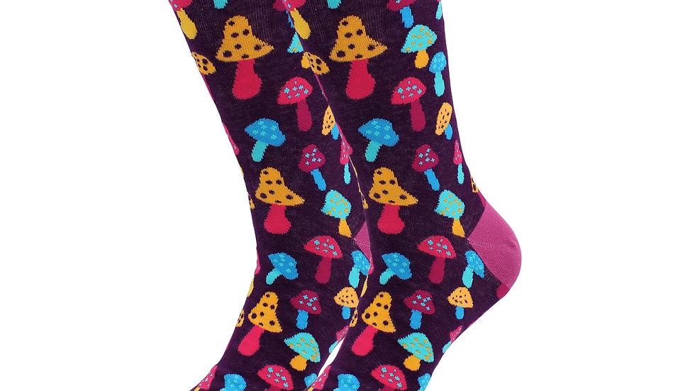 Sick Socks-Tripping On Mushrooms- The Shroom Socks