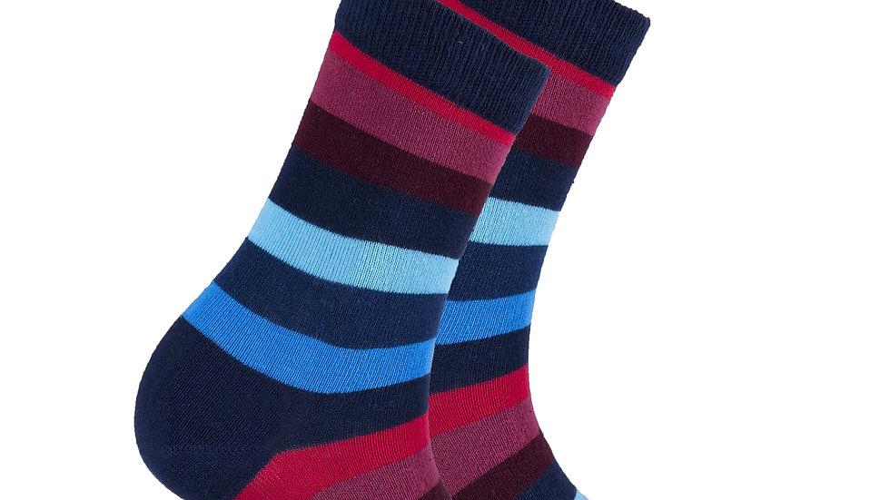 Women's Black Grape Stripe Socks