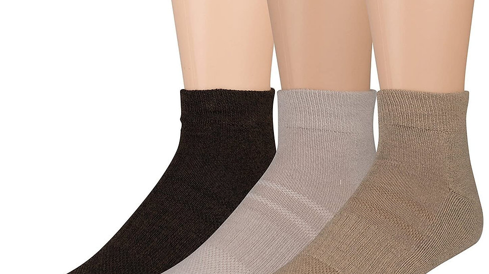 3 Pair Uptown Low Cut Gold Toe Men's Assorted Socks