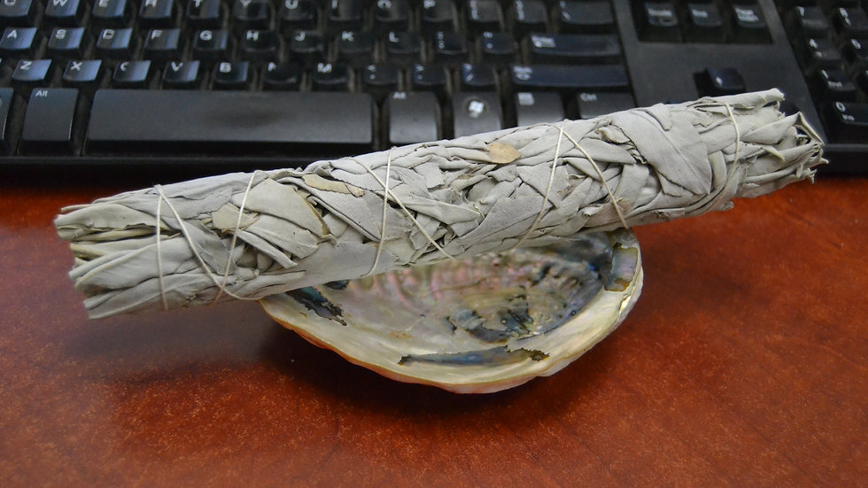 White Sage Bundles with Abalone Shell Smudge Kit