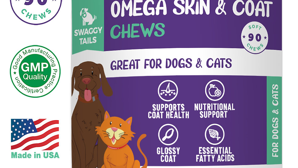 Happy Snacks  Swaggy Tails Omega Skin & Support