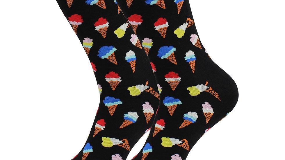 Cozy Designer Trending Food Socks - Ice Cream for Women