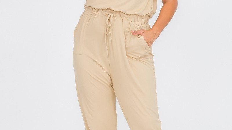 Plus Size Short Sleeves Jumpsuit