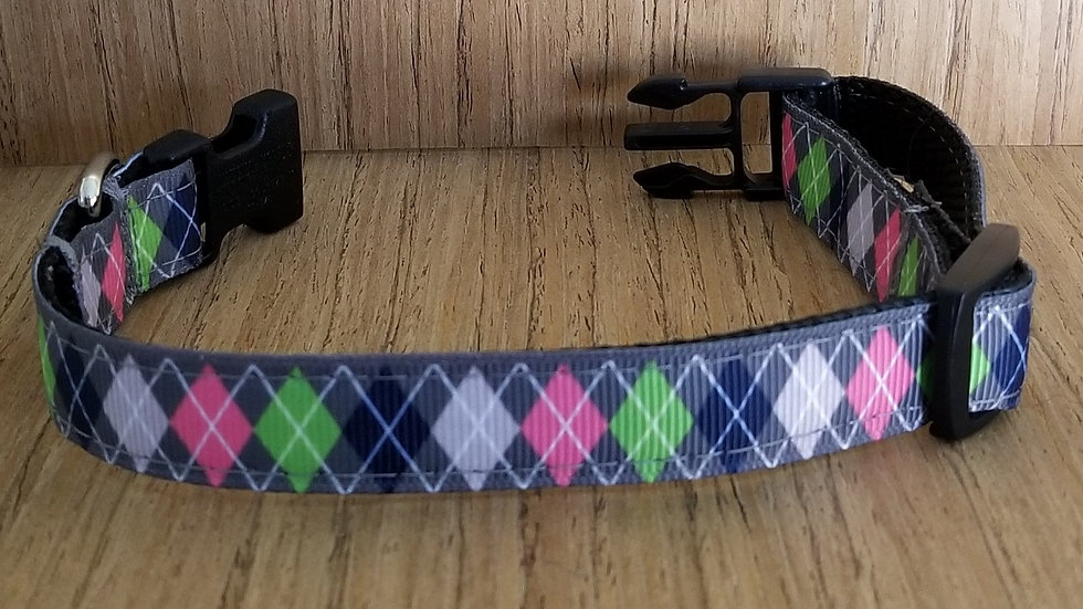 Argyle Collar/ Large/ Medium