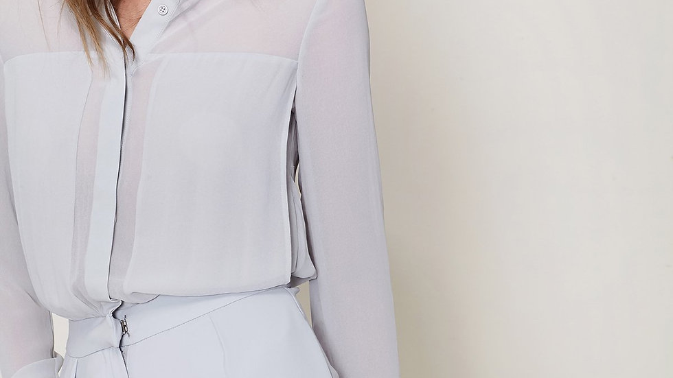 Women's Button Up Romper In Slate