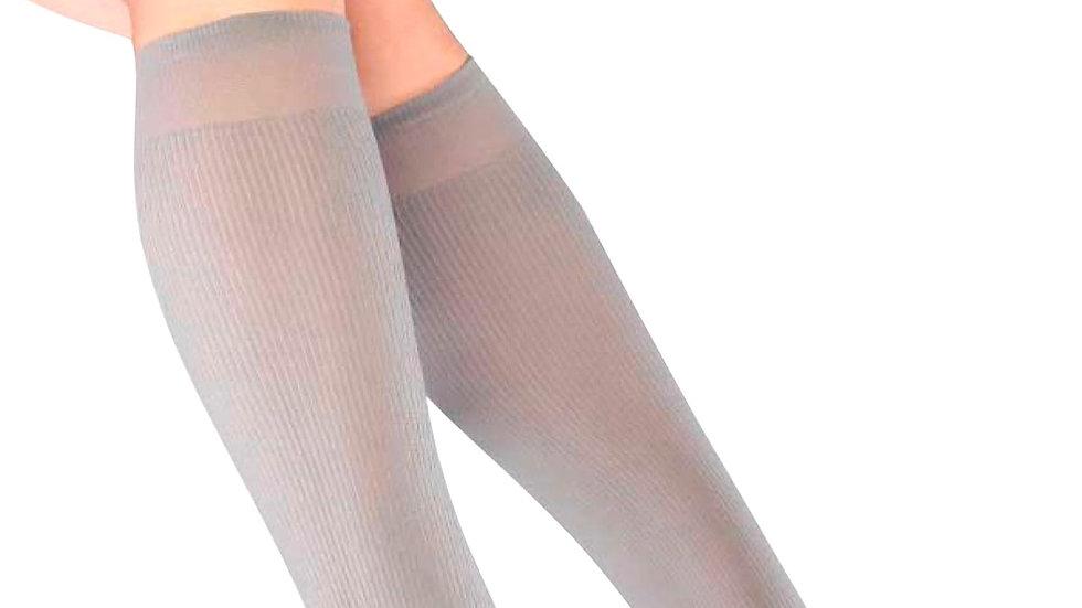 Ribbed Gray Knee Socks