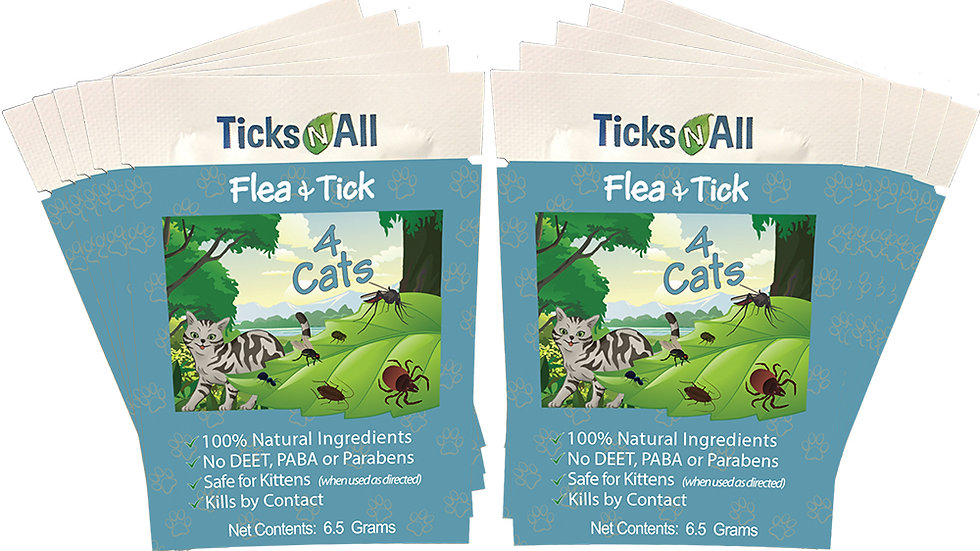 All Natural Flea and Tick Wipes 4 Dogs (((and cats))) (10 cnt.)