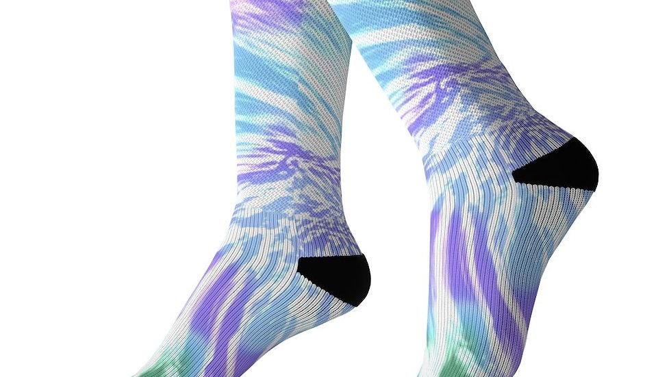 The Hippest Purple Tie Dye Sexy Socks