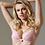 Thumbnail: Lavinia Dare Me Powder Pink Lace Plunge Push-up Bra