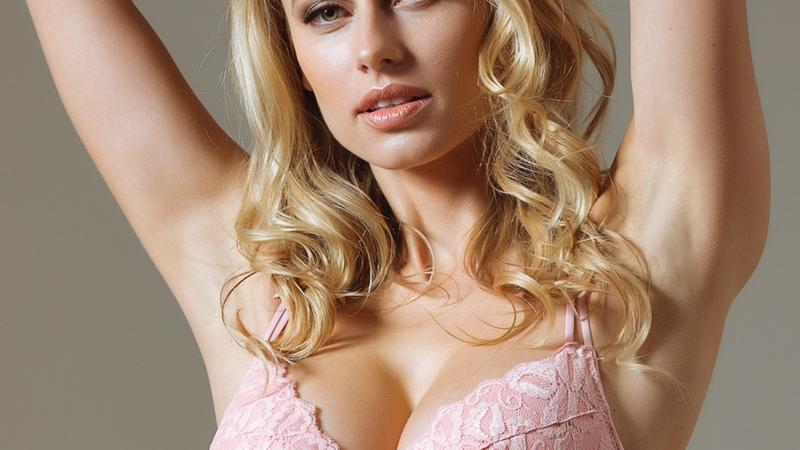 Lavinia Dare Me Powder Pink Lace Plunge Push-up Bra