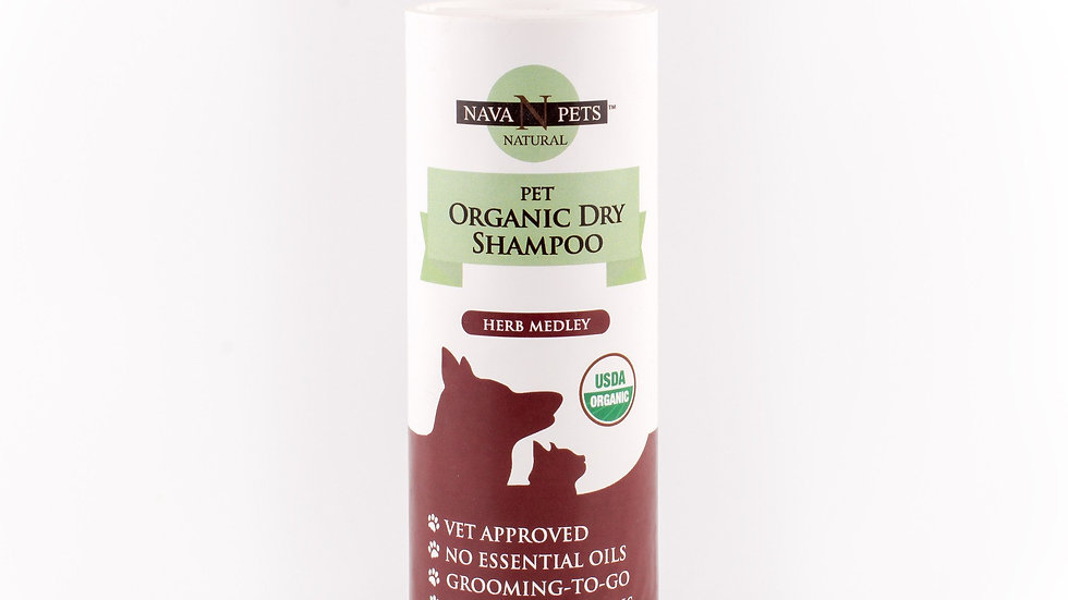 Organic Dry Dog Shampoo (Sensitive Skin), Herb Medley 5OZ