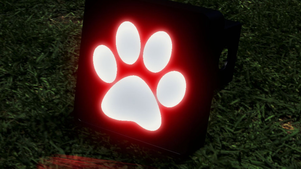 Paw Print LED Hitch Cover - Brake Light