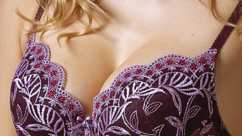 Lavinia Plumy Floral Lace Plunge Push-Up Bra