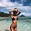 Thumbnail: 2021 Sexy High Waist Bikini Swimsuit Women Ruffle Swimwear Striped Set