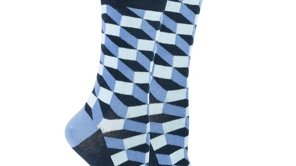 Women's Navy Block Socks