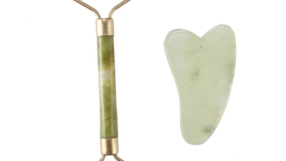 Portable Natural Jade Facial Skin Massager Kit