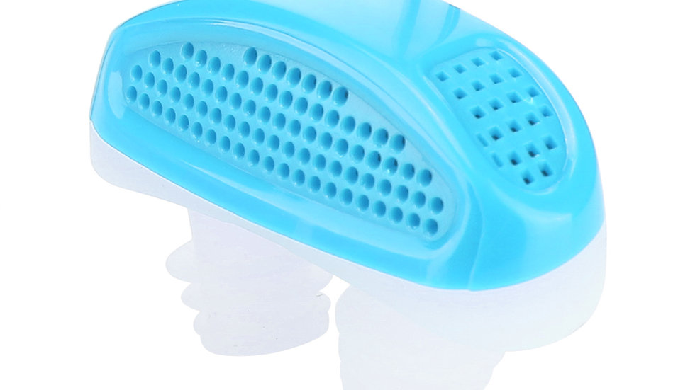 Silicone Anti Snore Relieve Snoring Device Blue