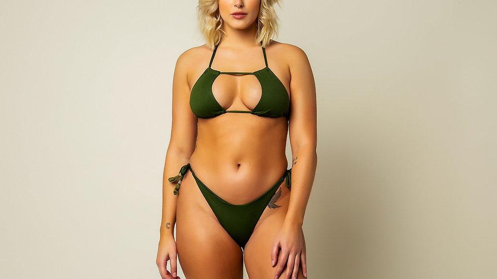 Carnauba Bikini Bottom - Olive Green