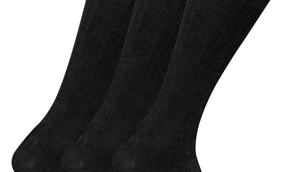 Thin Ribbed Knee High 100% Cotton ~ Business Socks