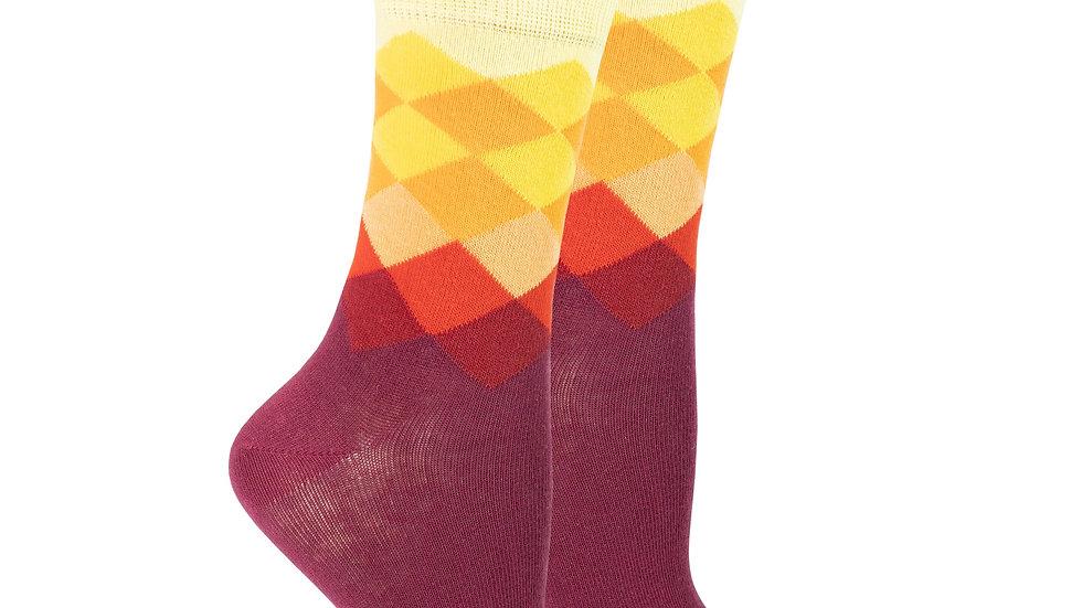 Women's Flame Diamond Socks