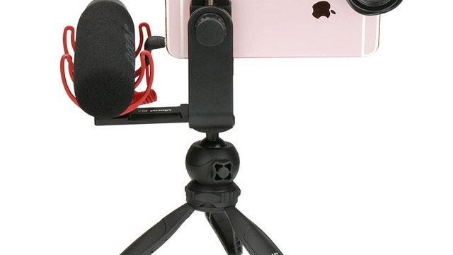 Phone Video Holder Tripod Flexible Vertical