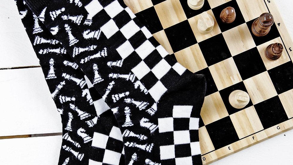 CHESS black cotton socks