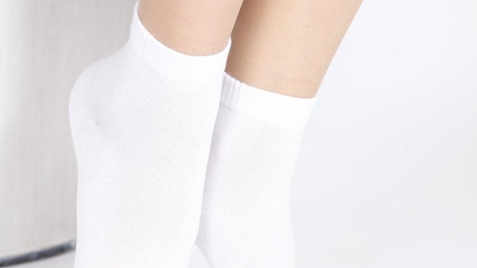 BAMBUS women's white socks