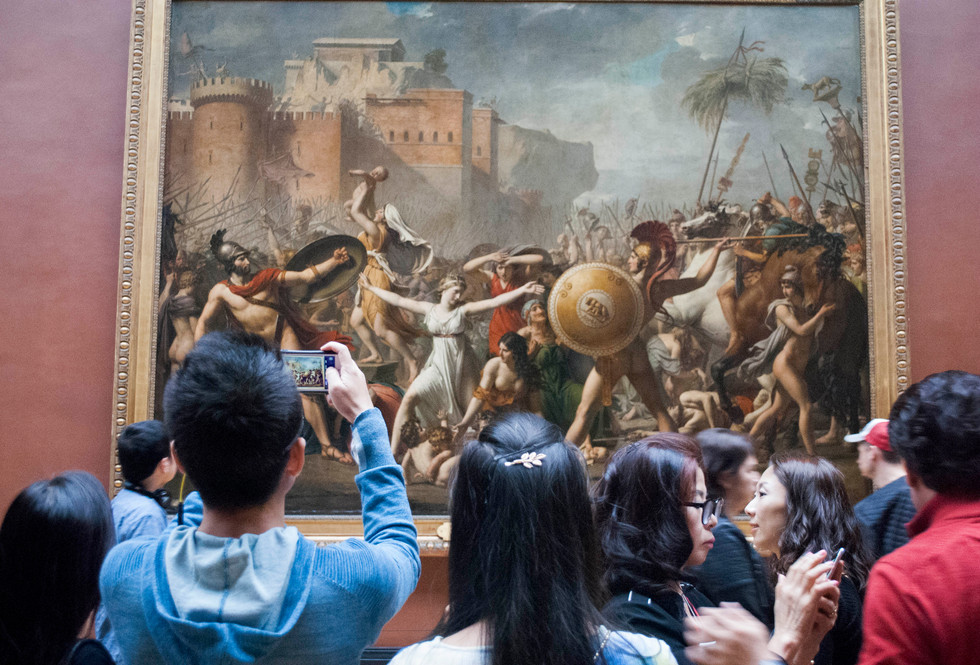 Jacques-Louis David, The Intervention of the Sabine Women, Louvre