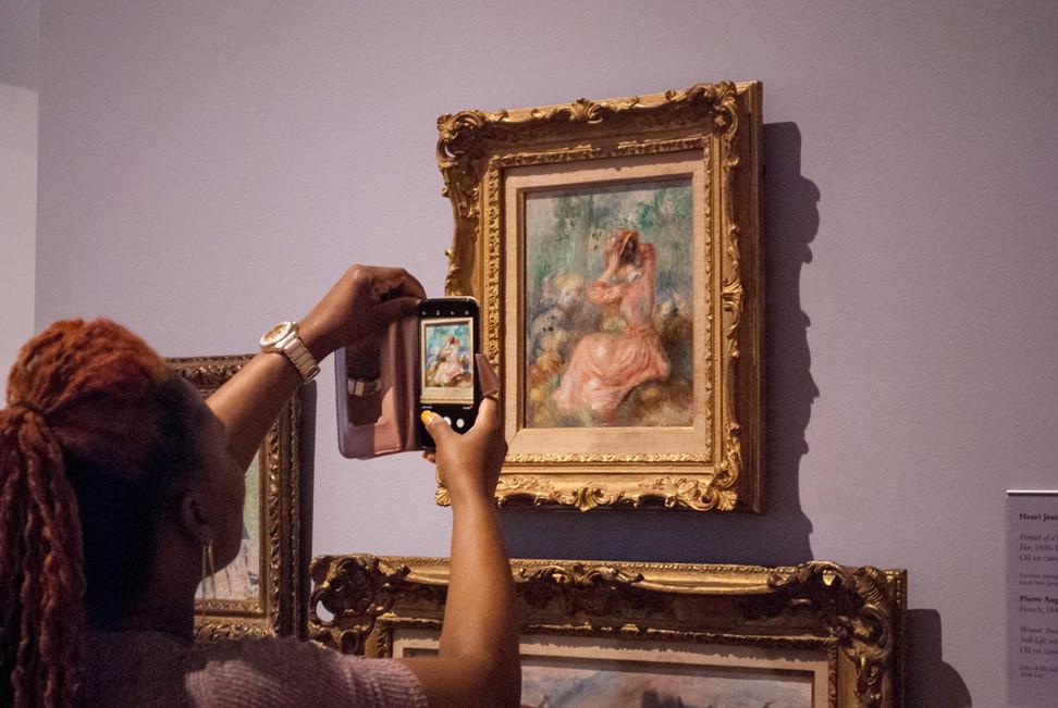 Pierre-Auguste Renoir, Woman Arranging Her Hat, High Museum of Art