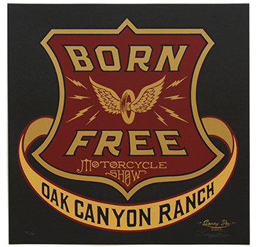 Born Free 9 Limited Edition of 60 Screen Print