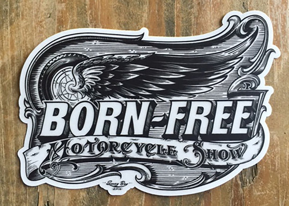 Born Free 8 Limited Vinyl Sticker