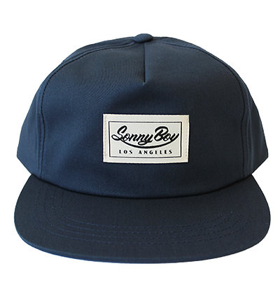 Navy Snapback with Sewn on Label