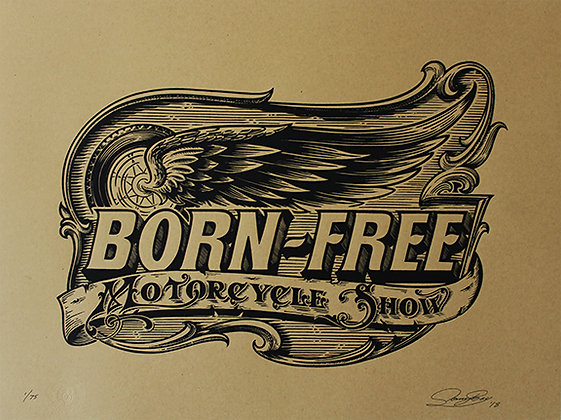Born Free 8 Limited Edition Print on Kraft Paper