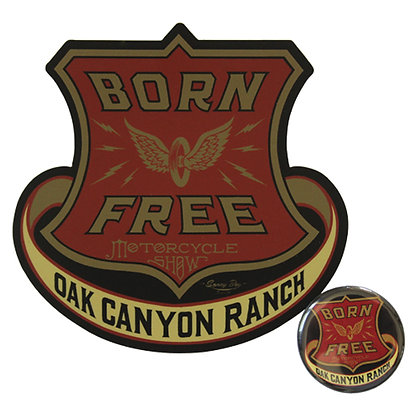 Born Free 9 Limited Edition Sticker