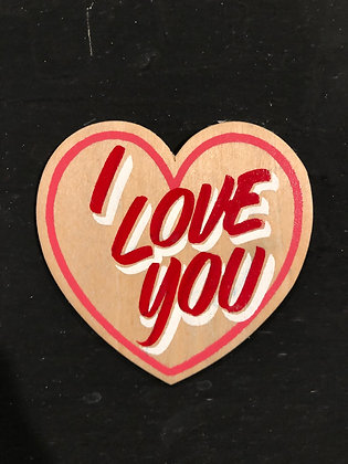 I LOVE YOU WOOD HEART