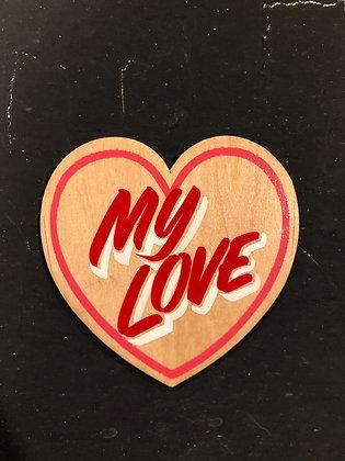 MY LOVE WOOD HEART