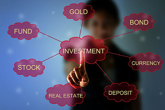 Gold, bond, currecy, deposit, real estate, stock, fund, investments