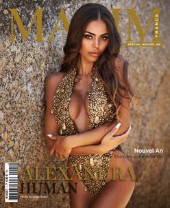 ALEXANDRA HUMAN COVER GIRL MAXIM FRANCE BELGIQUE